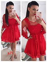 Женское гипюровое платье РАЗНЫЕ ЦВЕТА (фабричный Китай ) Код В606-1625 d815541cb6e8e
