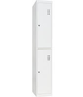 Шкаф одежный металлический ШО-300/1-2, размеры 1800х300х500 мм, 1 секция, 2 ячейки, локер