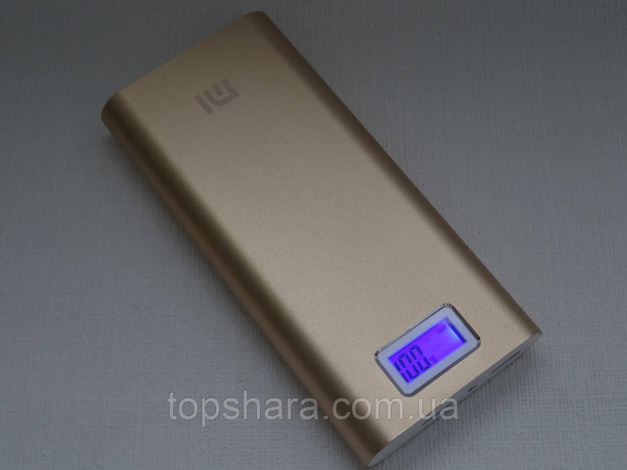 УМБ Xiaomi Mi Power Bank 28800 mAh 2xUSB с экраном Gold