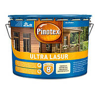 Водоотталкивающее лазурное деревозащитное средство Pinotex Ultra Lasur бесцветный 10л, фото 1