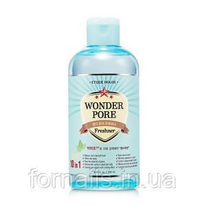 Wonder Pore Freshner Etude House, Тонер Освежающий Для Сужения Пор 10-в-1, 250 мл