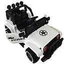 Детский электромобиль Джип белый T-7833 EVA WHITE детям 3-8 лет с пультом мотор 2*30W батарея 12V7AH с МР3, фото 2