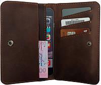 """Шкіряний портмоне """"Companion"""" ручної роботи, натуральна шкіра, на кнопках магнітах, клатч, гаманець"""