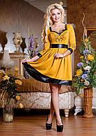 Платье Бланка,горчица,скл№2-только 42