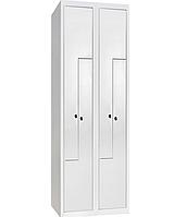 Шкаф одежный металлический ШОМ-Г-400/2-4, гардеробный металлический шкаф в раздевалку