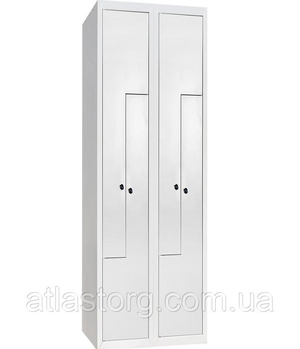 Шкаф одежный металлический ШОМ-Г-400/2-4, гардеробный металлический шкаф в раздевалку - ООО «Компания «Атлас» складское оборудование, промышленная мебель, стеллажи, колеса, ПВХ завесы в Харькове