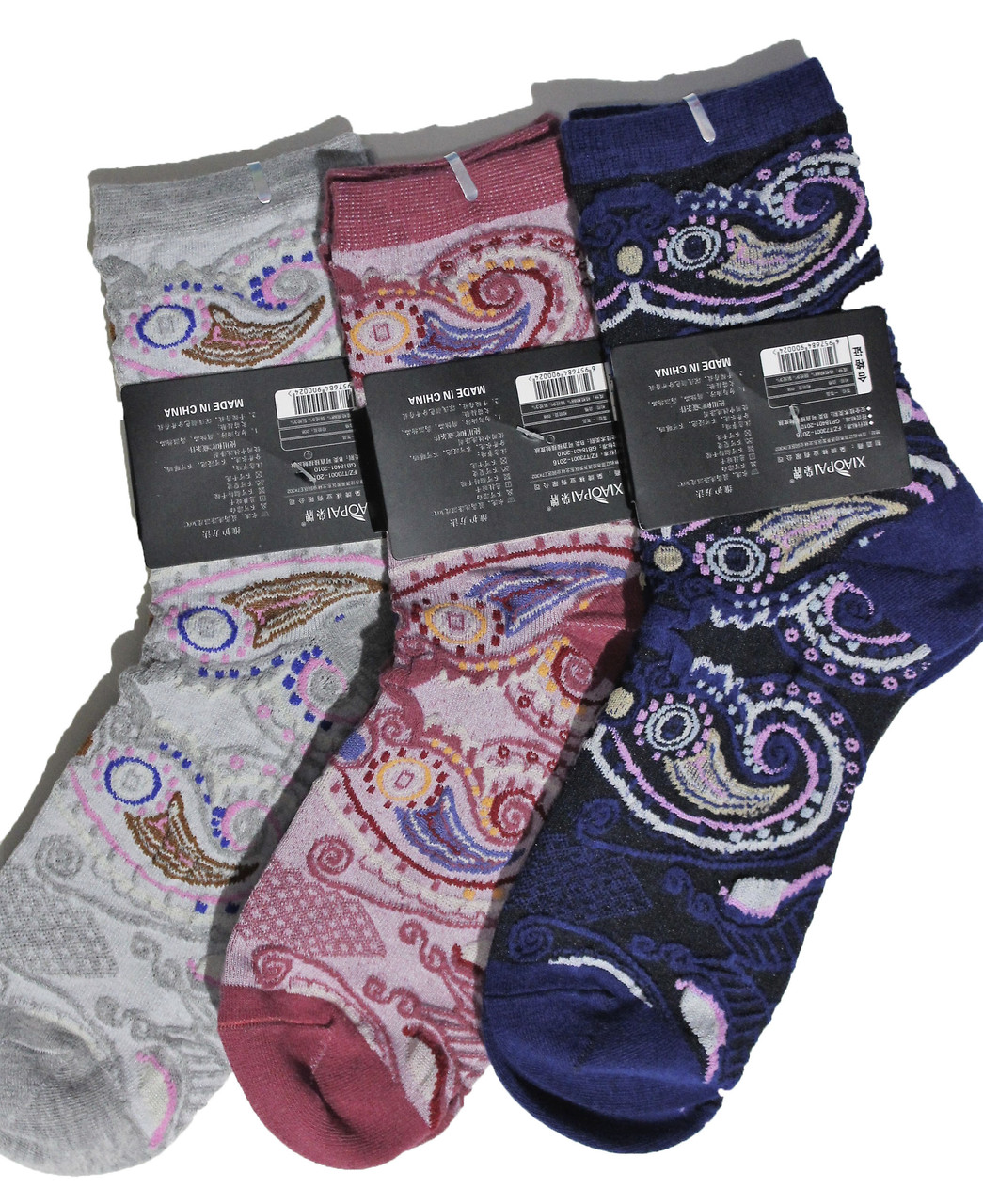 Носок стрейчевый женский хлопок Шугуан B2511 (уп.10 шт.)