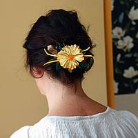 Солнечный цветок заколка для волос