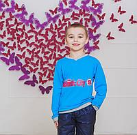 Кофта спортивная для мальчика  голубой, фото 1