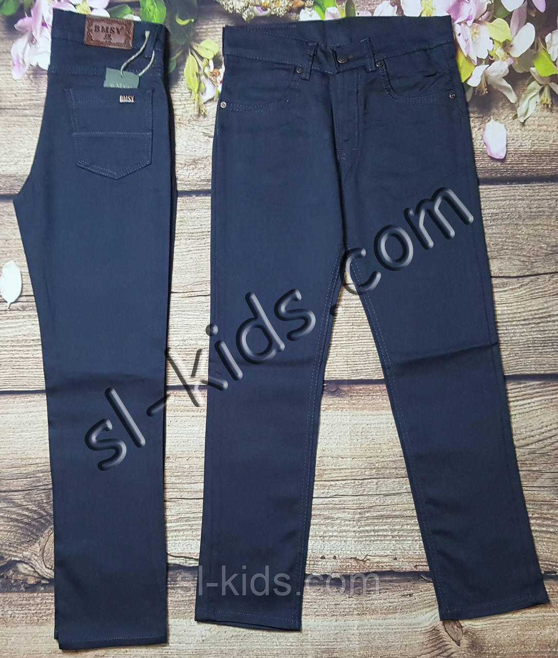 Яскраві штани для хлопчика 12-16 років(роздр) (темно-сірі) пр. Туреччина