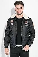 Куртка мужская с воротником из искусственного меха 178V001 (Черный)