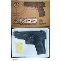 Игрушечный металлический пистолет ZM23, фото 1