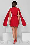 Оригинальное платье мини на запах с открытыми рукавами, фото 3