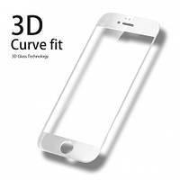 Защитное 3-D стекло для IPhone  7/8 Белое