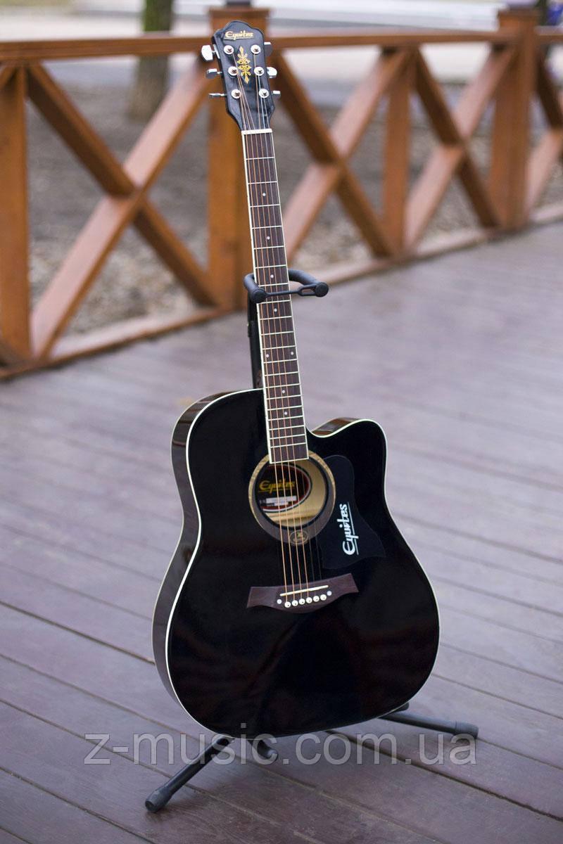 Гитара акустическая Equites Eq-09 BKC, глянцевая