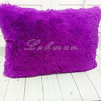 Чехол для подушки травка  50х70 см. | Декоративные пушистые наволочки для интерьера, цвет фуксия