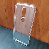 Ультратонкий прозрачный силиконовый чехол для Nokia 6.1 Plus