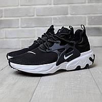 Мужские кроссовки Nike Presto React Black (ТОП РЕПЛИКА ААА+)