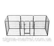 Огорожа для собак металлическая модулированная 8 панелей60 х 80 см vidaXL