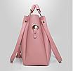 Сумка жіноча в наборі сумка через плече Melody Рожевий, фото 5