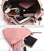 Сумка жіноча в наборі сумка через плече Melody Рожевий, фото 9