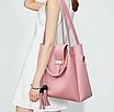 Сумка жіноча в наборі сумка через плече Melody Рожевий, фото 2