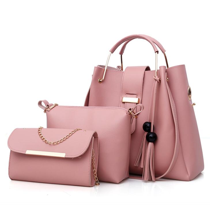 Сумка жіноча в наборі сумка через плече Melody Рожевий