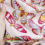 31001 Бабочки. Легкая летняя ткани для пошива летней одежды и для изготовления хендмэйд изделий., фото 2