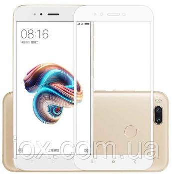 Захисне біле скло 2.5 D Full Glue Xiaomi Mi A2/6X
