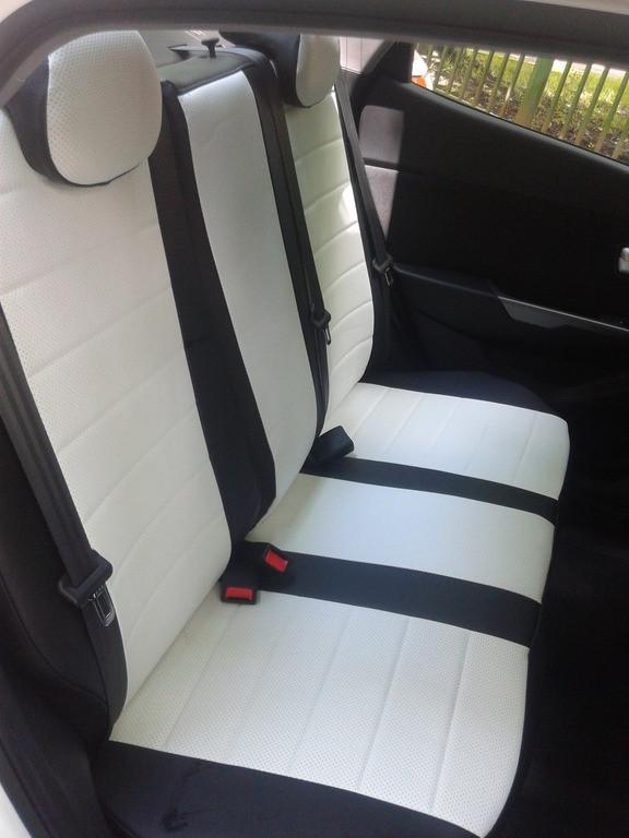 Чехлы на сиденья Ситроен Джампи (Citroen Jumpy) 1+1  (универсальные, кожзам+автоткань, с отдельным подголовником)