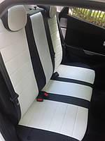 Чехлы на сиденья Ситроен Джампи (Citroen Jumpy) 1+1  (универсальные, кожзам+автоткань, с отдельным подголовником), фото 1