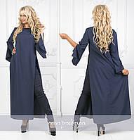 Женский костюм большого размера / софт, бенгалин / Украина 40-02039, фото 1