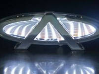 Автоэмблема Chery A3 с подсветкой 3D (белая)