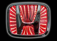 Автоэмблема Honda Accord  3D с подсветкой (красная)