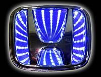 Автоэмблема Honda Accord  3D с подсветкой (синяя)
