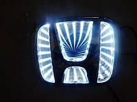 Автоэмблема Honda Accord 3D с подсветкой (белая)
