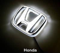 Автоэмблема Honda Civic с подсветкой (бело-красная), фото 1
