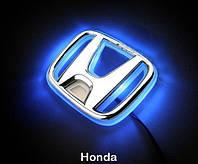 Автоэмблема Honda Jazz (new fit) с подсветкой (синяя-красная), фото 1