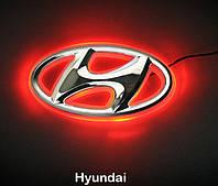 Автоэмблема Hyundai I30 с подсветкой (бело-красная), фото 1