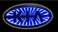Автоэмблема KIA 3D с подсветкой (синяя)