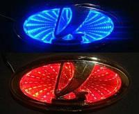 Автоэмблема LADA с подсветкой 3D (красная)
