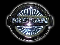 Автоэмблема Nissan Tiida с подсветкой 3D (белая)