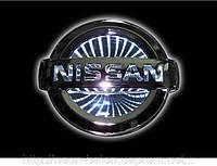 Автоэмблема Nissan Tiida с подсветкой 3D (бело-красный), фото 1