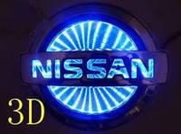 Автоэмблема Nissan Tiida с подсветкой 3D (синяя)