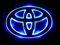 Автоэмблема Toyota Сorolla-08 (синяя-красная) с подсветкой, фото 1