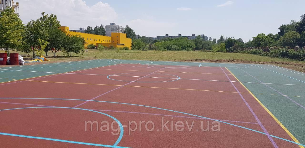 Баскетбольная площадка под ключ 28х15 (10мм)