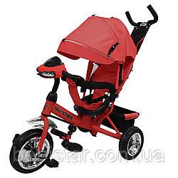Трехколесный детский велосипед красный TILLY STORM музыка и свет
