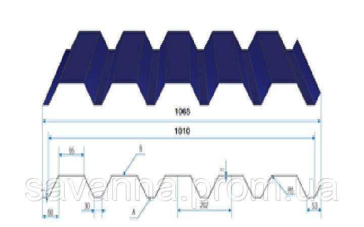Профнастил Н-44 0,45мм Полиестер