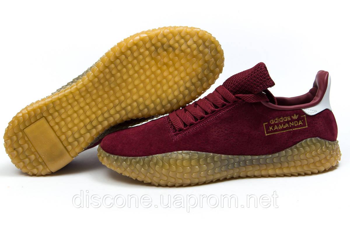 Кроссовки мужские ► Adidas Kamanda, бордовые (14864), р.  [  43 44  ] ✅Скидка 33%