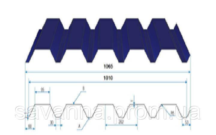 Профнастил Н-44 0,45мм Матполиестер